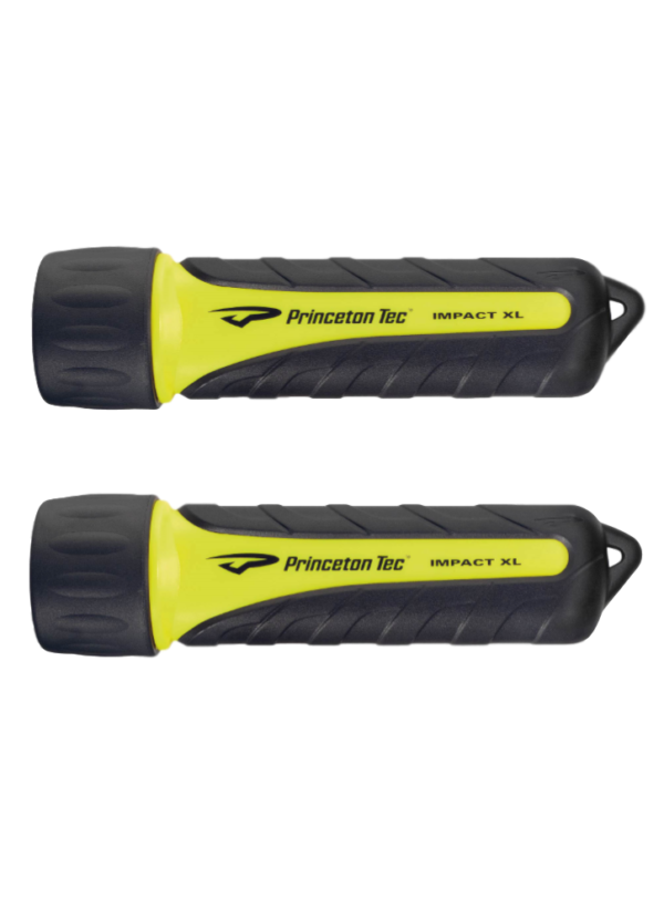 2 Princeton Tec Impact XL flashlights Yellow